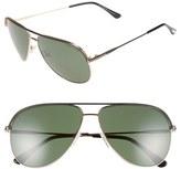 Tom Ford Women's 'Erin' 61Mm Aviator Sunglasses - Black/ Other/ Green