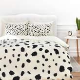 DENY Designs Rebecca Allen Miss Monroes Dalmatian Queen Duvet Cover