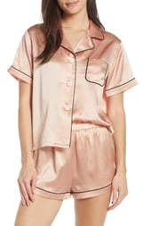 Katelyn Fiona Silk Short Pajamas