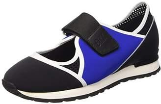 Bikkembergs Women's Kate 664 L.Shoe Cut Out W Lycra/Leather Flatform Pumps Black Size: 4