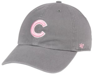 '47 Chicago Cubs Dark Gray Pink Clean Up Cap