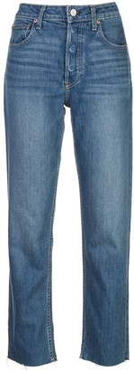 Trave Denim high rise straight jeans