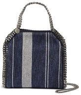 Stella McCartney Mini Falabella Linen Weave Faux Leather Crossbody Bag - Blue