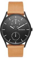 Skagen Holst Leather Strap Watch, SKW6265