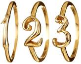 Lulu Frost Code Number Ring Yellow Gold 14KT