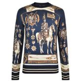 Dolce And Gabbana Cavalier Knitted Jumper