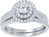 Nicole Miller Nicole By 1 CT. T.W. Diamond Bridal Set