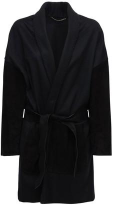 Salvatore Ferragamo Belted Wool & Cashmere Cape Coat