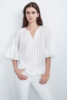 Celina Cotton Voile Pleated Top