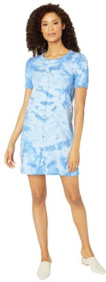 Mod-o-doc French Terry Tie-Dye T-Shirt Dress (Blue Bonnet) Women's Dress