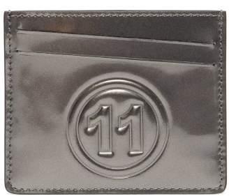Maison Margiela No.11 Metallic Leather Cardholder - Mens - Grey