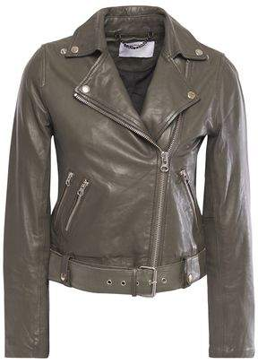 Muu Baa Muubaa Manning Cropped Leather Biker Jacket