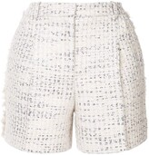 ZUHAIR MURAD metallic thread tweed shorts