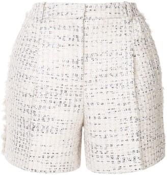 ZUHAIR MURAD metallic thread tweed shorts