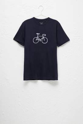 French Connection Bike Embroidered T-Shirt