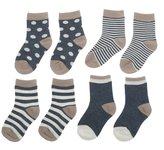 Generic 4 Pairs Baby Toddler Boys Girls Kids Cotton Socks Stripe Polka Dot Hosiery - , S