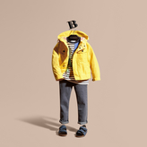Burberry Hooded Field Jacket , Size: 10y, Yellow