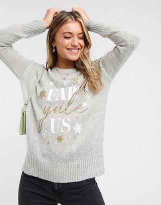 New Look Christmas jumper in grey