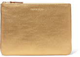 Comme des Garcons Metallic Textured-leather Pouch - Gold