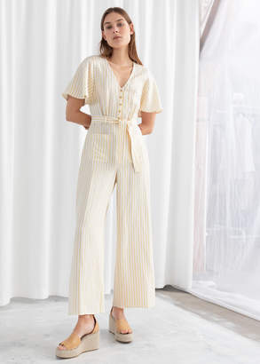 And other stories Striped Linen Blend Jumpsuit