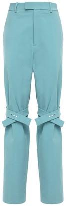 Bottega Veneta Nylon Canvas Pants W/ Knee Straps
