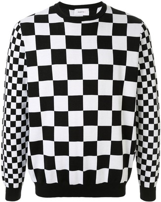Ports V Checkered Slim-Fit Sweatshirt