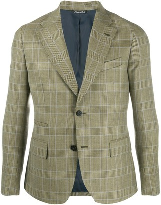 LeQarant plaid tailored blazer