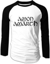LOOSHIL Men's Amon Amarth Band Logo Long Sleeve Raglan T Shirt