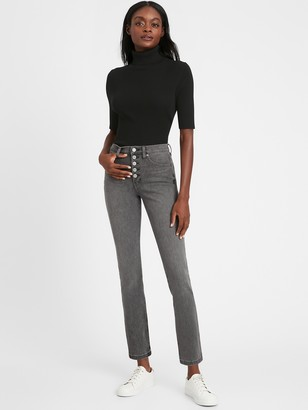 Banana Republic High-Rise Slim Button-Fly Jean