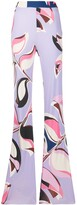 Emilio Pucci printed flared trousers