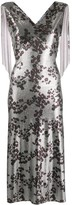 Paco Rabanne metallic floral print dress