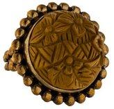 Stephen Dweck Carved Jasper Flower Ring