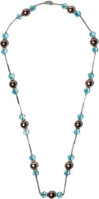 David Morris 18kt White Gold Diamond Bead Necklace