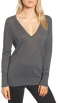 James Perse Women's Deep V-Neck Sweater