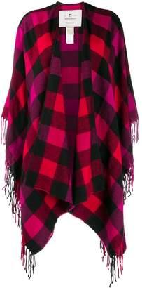 Woolrich checked shawl cardigan