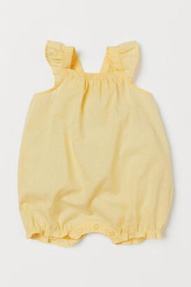 H&M Sleeveless cotton romper suit