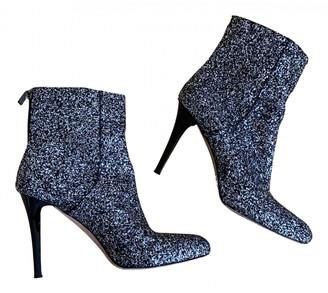 Jimmy Choo Metallic Glitter Ankle boots