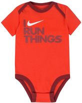 "Nike Baby Boy I Run Things"" Graphic Bodysuit"