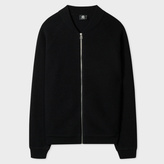 Paul Smith Men's Black Boiled Wool Zip-Front Cardigan