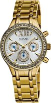 August Steiner Women's ASA840YG Crystal Multi-Function Bracelet Watch