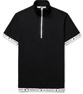Givenchy Slim-Fit Stretch-Cotton Piqué Half-Zip Polo Shirt