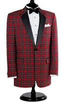 Jos. A. Bank Red Stewart Tuxedo Dinner Jacket