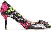 Gucci Dionysus box toe brocade pumps - women - Leather/PVC - 36.5