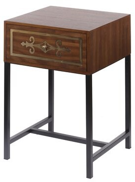 A&B Home Raj Chest End Table with Storage