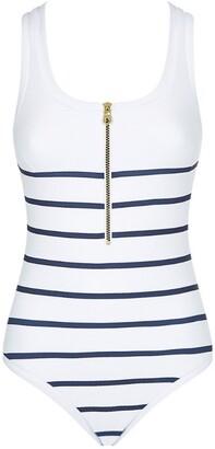 Heidi Klein Racerback Zip-Up Swimsuit