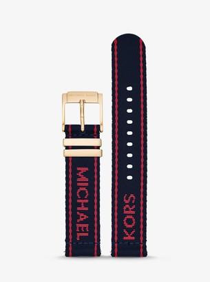 Michael Kors Gen 3 Runway Logo Tape Nylon Smartwatch Strap