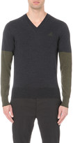 Vivienne Westwood Block-colour V-neck wool jumper
