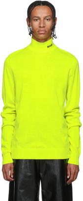 MSGM Yellow Fluorescent Turtleneck