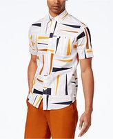 Sean John Sean Jean Men's Big and Tall Geometric Stretch Shirt