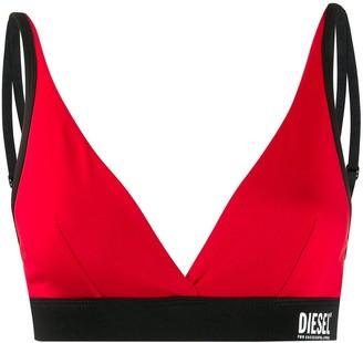 Diesel logo straps triangle bra